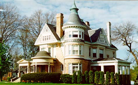 1897 Queen Anne Victorian Home. Queen Anne Revival style.